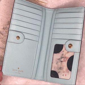 kate spade Bags - Kate Spade Light Blue Leather Wallet